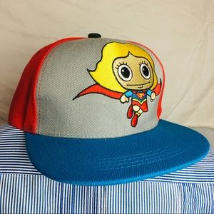Super girl six flags hat